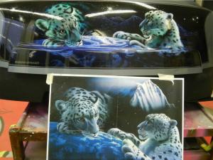 Airbrush, Leopard, Quad Heckbox