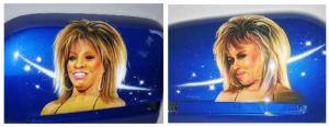 Airbrush, Tina Turner, Honda Goldwing