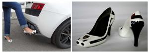 Designerschuh-Lamborghini mit Airbrushdesign