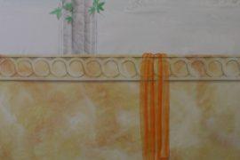 `Das Tuch` Dekorationsmalerei für Wände