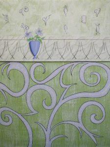 Muster Dekorationsmalerei Lilien Wandbild