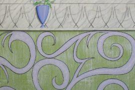 Wandmalerei mit Lilien