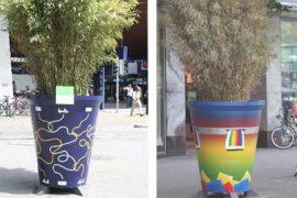 Farbgestaltung für Blumentöpfe 'Gartencity'