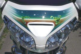 Honda Goldwing Sternzeichen-Airbrush