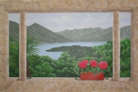 """Wandmalerei mit Seesicht """"Lago Maggiore"""""""