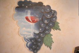 Wandmalerei im Weinkeller