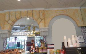 Wand und Dekenmalerei in der Bäckerei