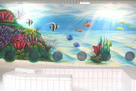 Wandmalerei im Hallenbad Fohrbach, Zollikon