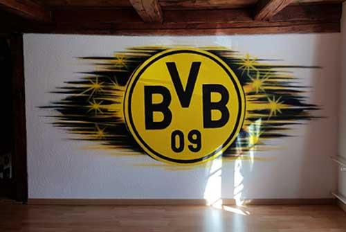 BVB Wandmalerei Airbrush