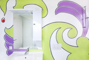 Wandmalerei im Badezimmer