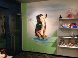 Dekorationsmalerei, Airbrush, Hund, Tierbild, Portrait