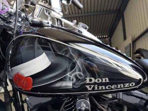 Motorrad-Airbrush, Don Vincenzo, Harley Tank
