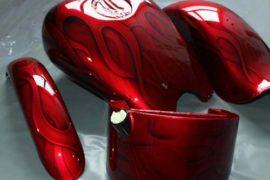 Motorrad-Airbrush Flammendesign