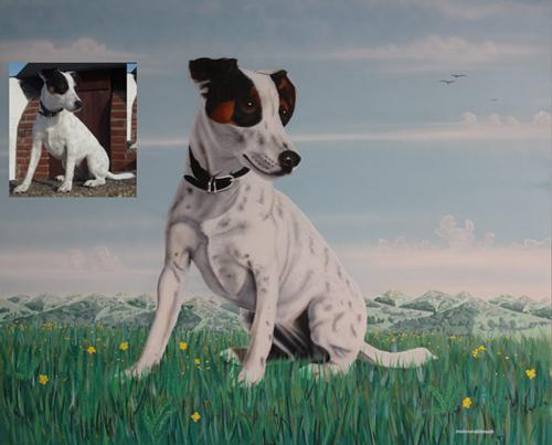 Hundeportrait, ab Bildvorlage