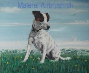 Airbrush Hund Tierportrait