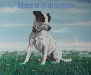 Airbrush Hunde Portrait
