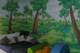 Wandmalerei in der Kita
