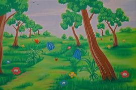 Wandmalerei für Kinderzimmer