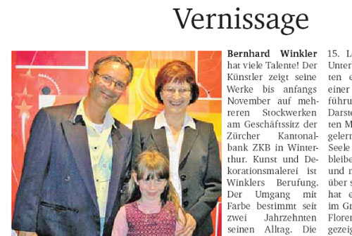 Kunstausstellung Zürcher Kantonalbank