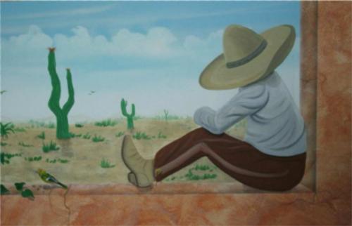 Wandmalerei im Restaurant Mexicano
