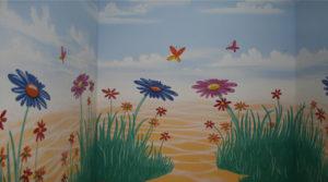 Dekorationsmalerei für Kinder Spielecke