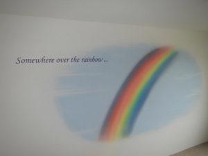 Regenbogen, Wand-Airbrush