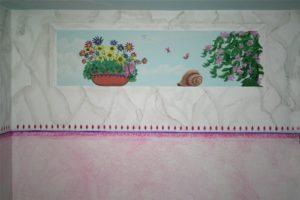 Wandmalerei im Mädchenzimmer