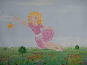 Wandmalerei Lilifee im Mädchenzimmer