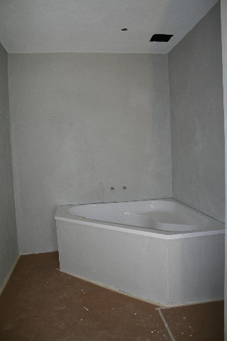 Badezimmer im Rohzustand
