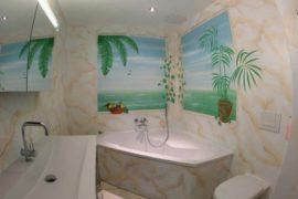 Dekorationsmalerei im Badezimmer
