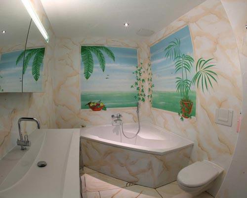 Wandmalerei Sika Badezimmer