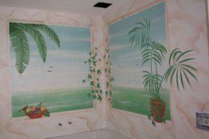Illusionsmalerei im Badezimmer