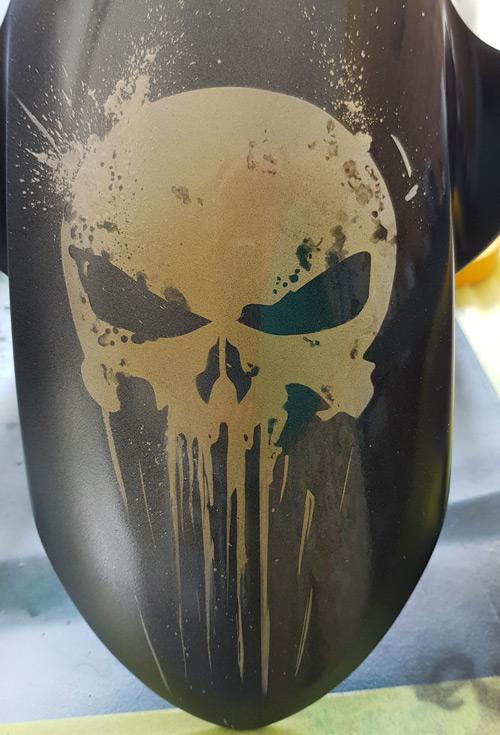 Skull-Airbrush-Fender