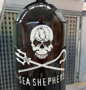 Airbrush für Tauchflasche Sea Shepherd