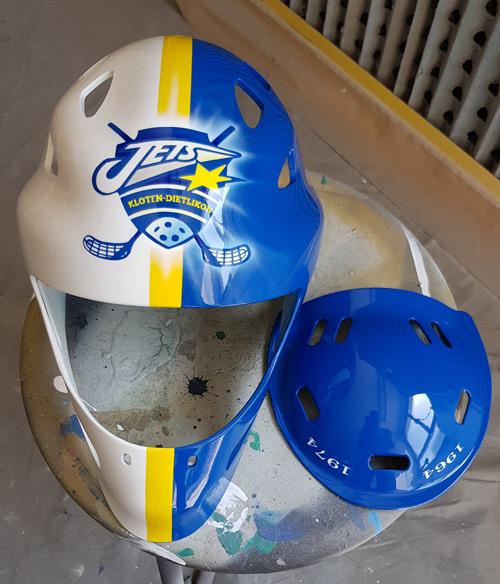 Airbrush Unihockey Helm