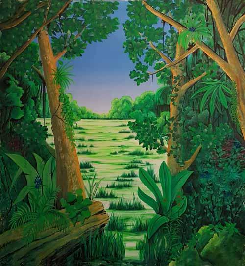 Wandmalerei Urwald