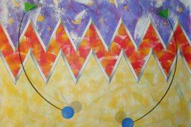 Wandmalerei, Muster 'Zick-Zack'